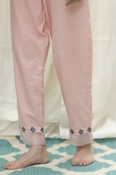 Aztec Border Pants With Organza