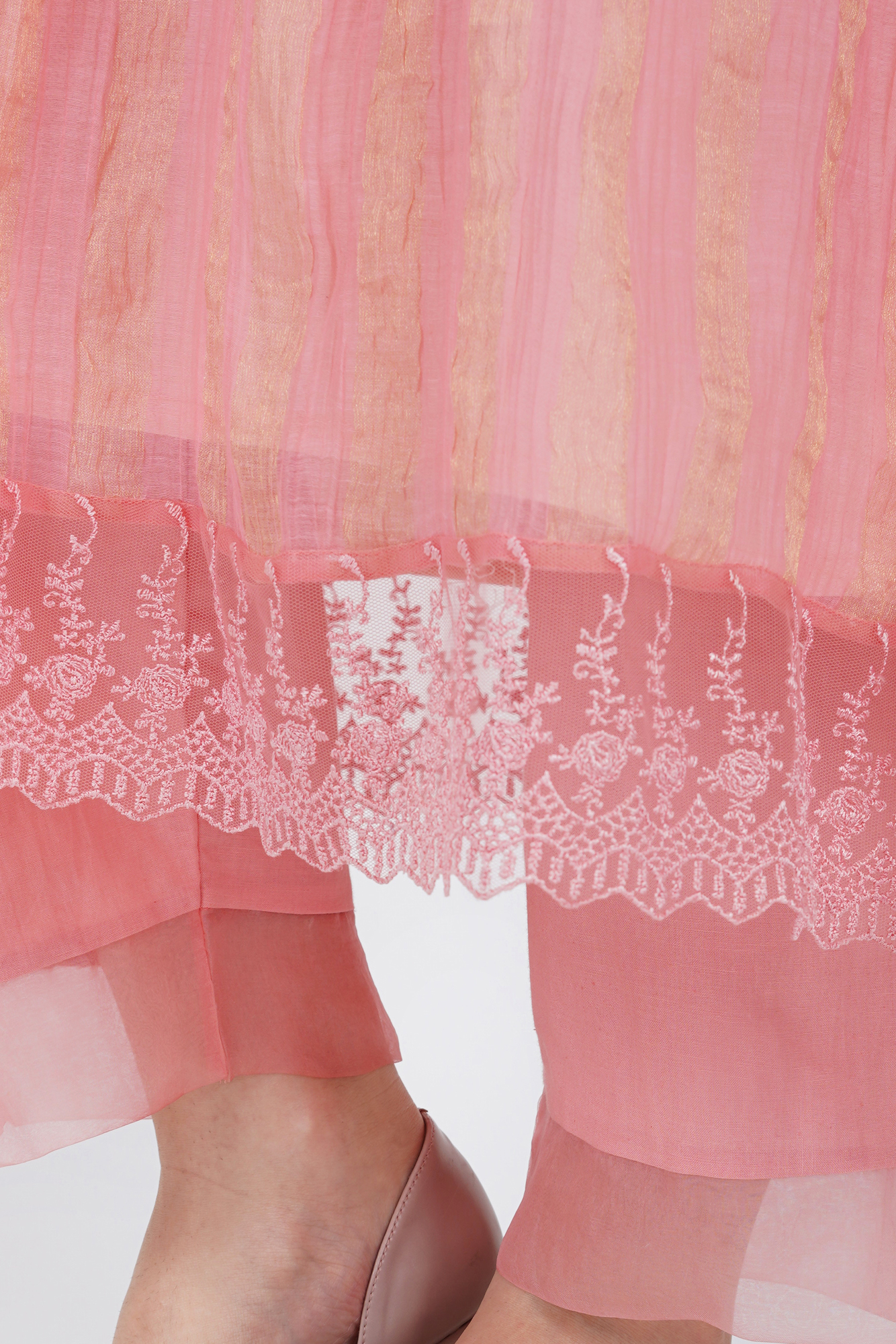 Pants with  Organza