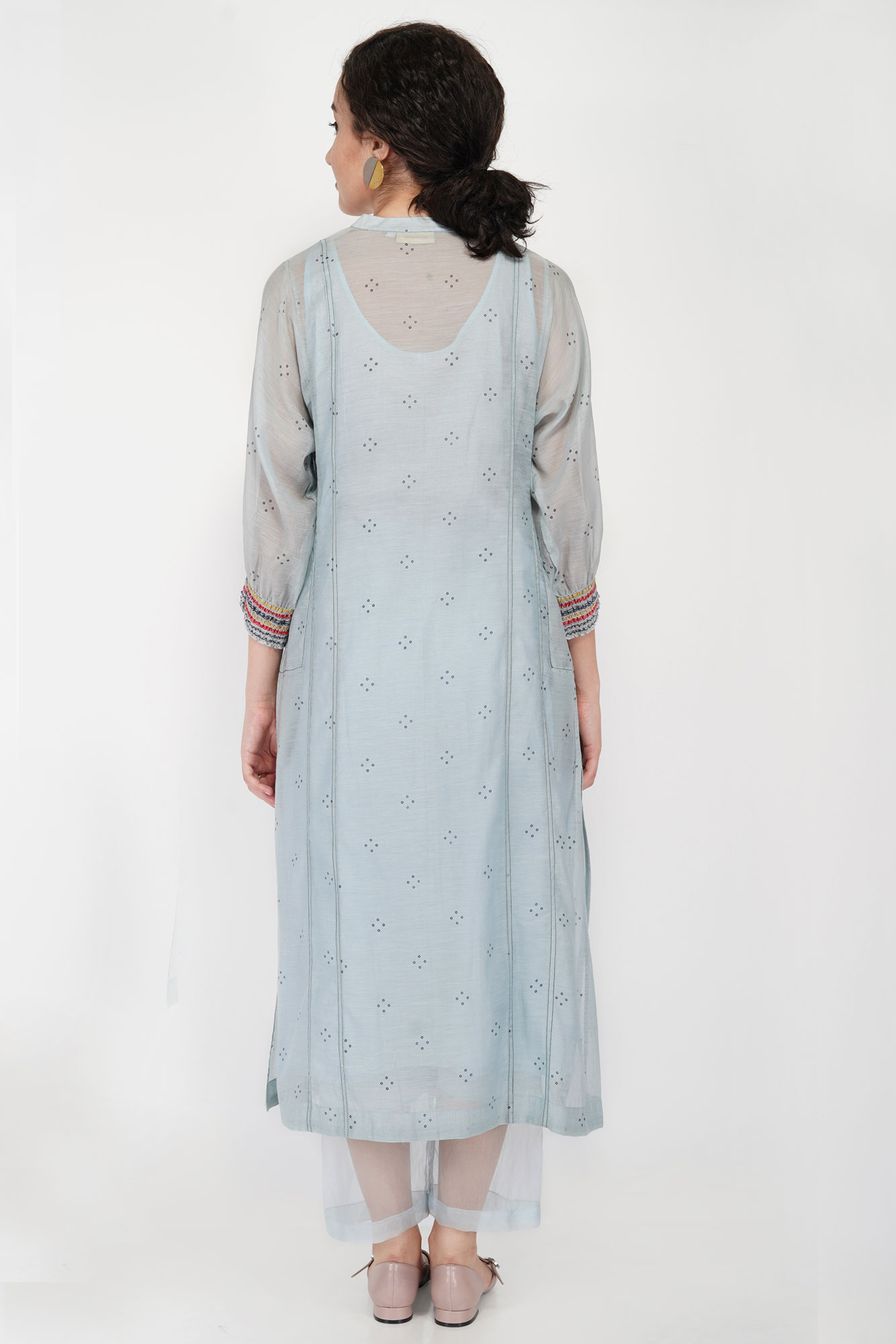 Abstract Yoke Kali Kurta