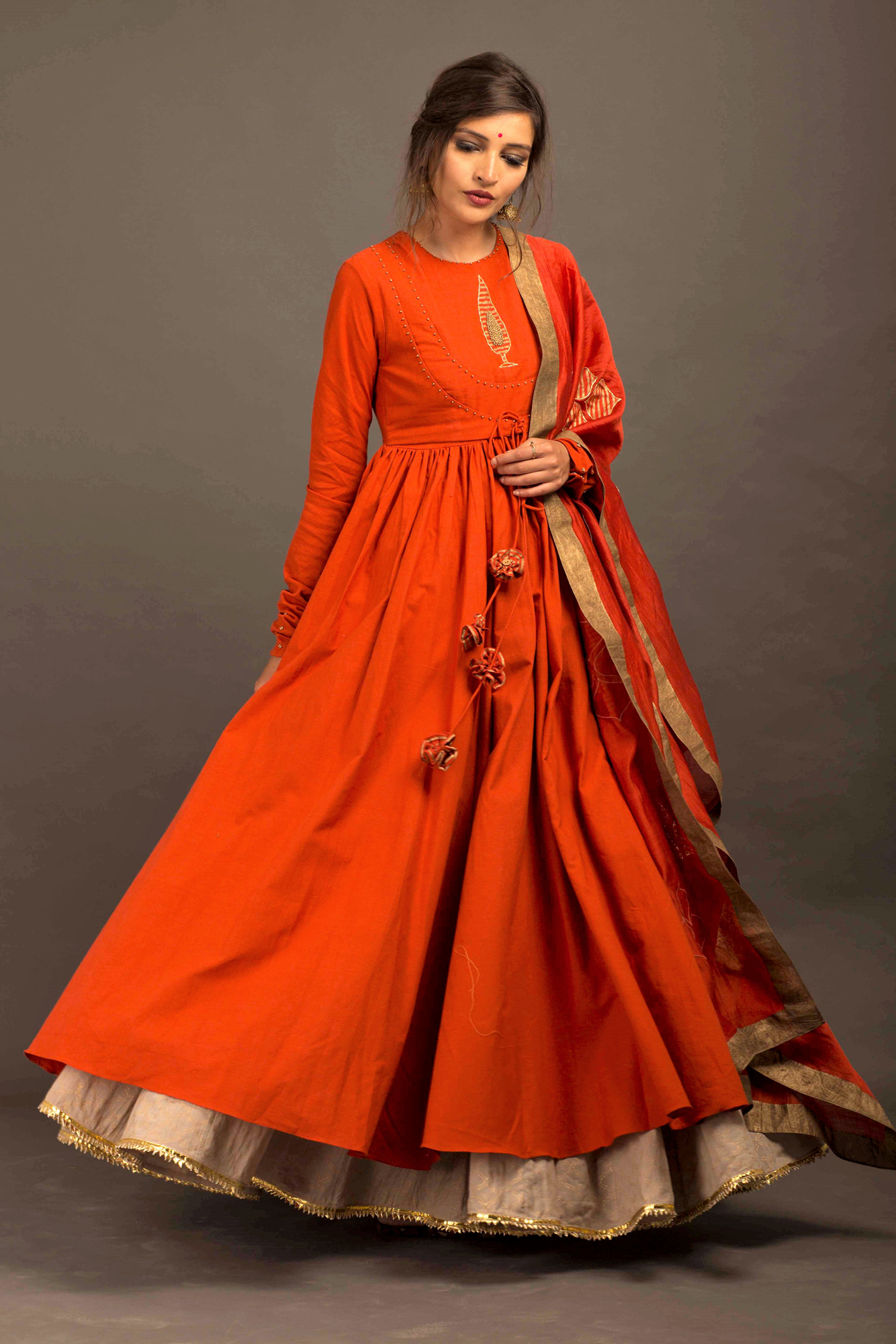 Leaf Anarkali Full Set